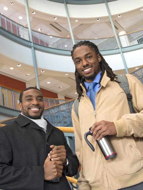 two Rutgers-Newark students